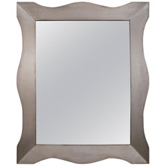 James Mont Silver Gilt Large Scale Wall Mirror