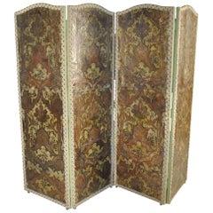 Exceptional 18th Century Flemish Paravant - Foldding Screen