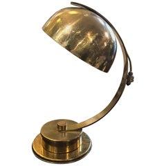 Mid-Century Modern Brass Italian Turnable Table Lamp, circa 1960