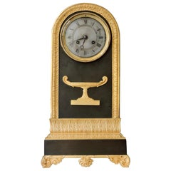 19th Century French Ormolu and Patinated Bronze Clock
