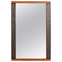 Hans-Agne Jakobsson Solid Teak Mirror for Markaryd, Sweden, 1950s