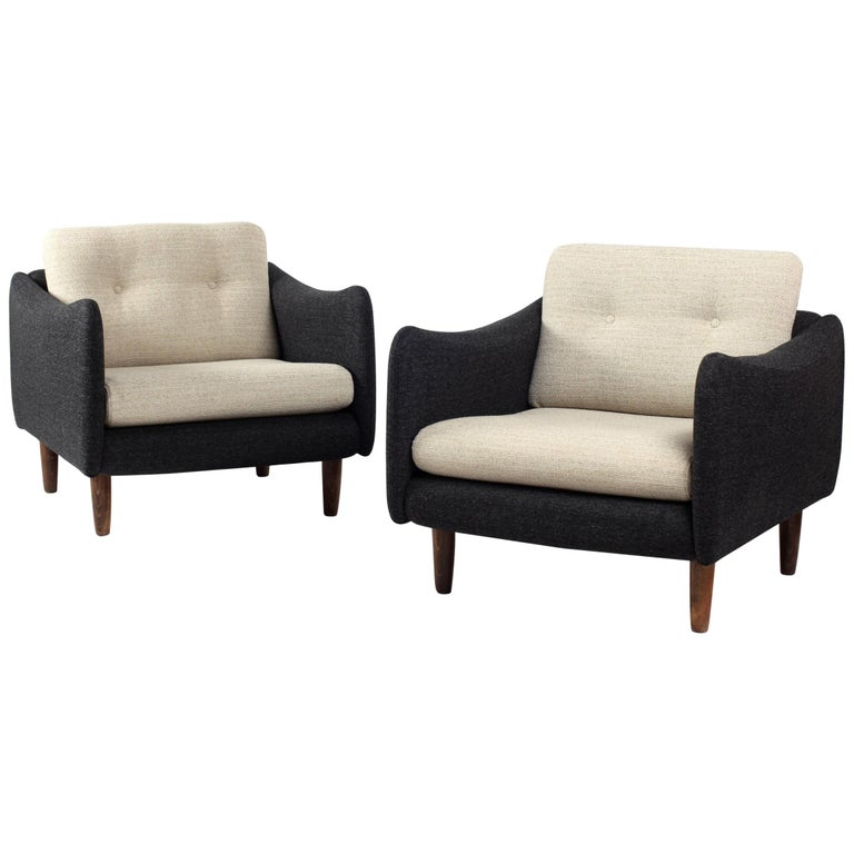 Pair of Teckel Armchairs by Michel Mortier for Steiner, France, 1960s For Sale
