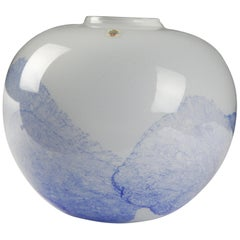 Holmegaard Glass Vase Design by Mutsuo Inoue 1984, Denmark