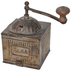 "19th Century Original Painted ""Elma"" Coffee Grinder"