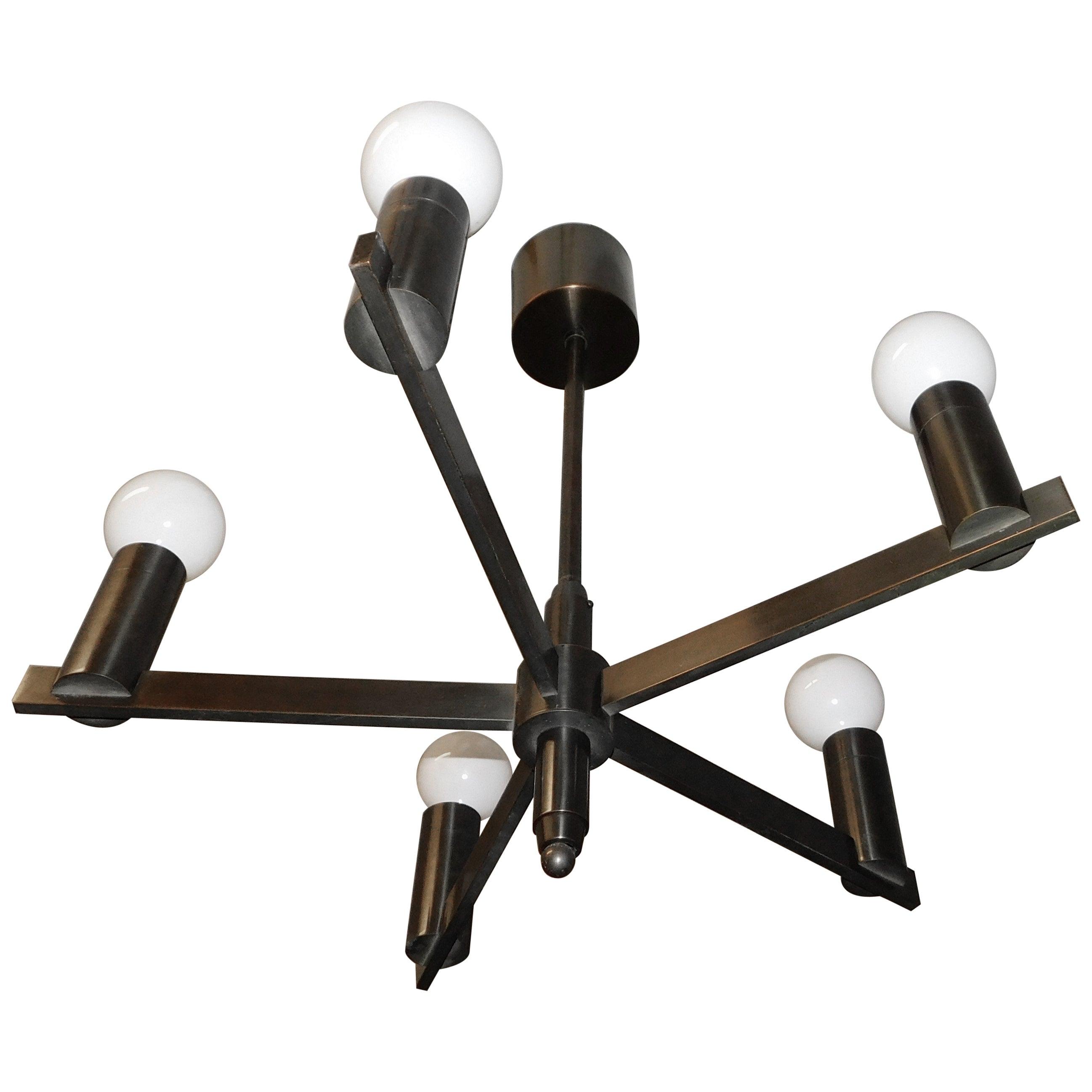 Arredoluce Attributed Mid-Century Modern  Italian Chandelier Light