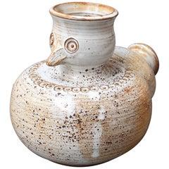 Glazed Ceramic Stylized Bird Vase by Dominique Pouchain, circa 1980s