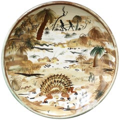 Ceramic Plate of Australian Bush by Neil Douglas for Arthur Merric Boyd