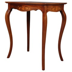 Antique French Marquetry, Mahogany with Satinwood  Inlay, Lamp Table, circa 1900