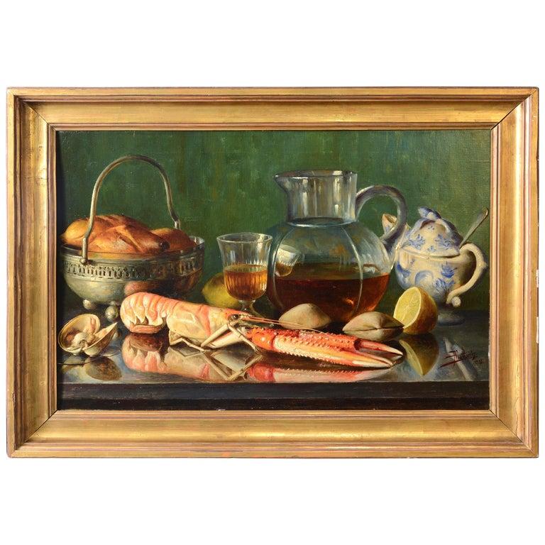 """Still Life"" Oil on Canvas, Mañanós Martínez, Asterio, 1933 For Sale"
