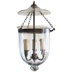 Cut Glass Bell Jar Lantern, England, circa 1930-1939