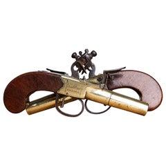 Pair of 18th Century Brass Pistols by John Twigg