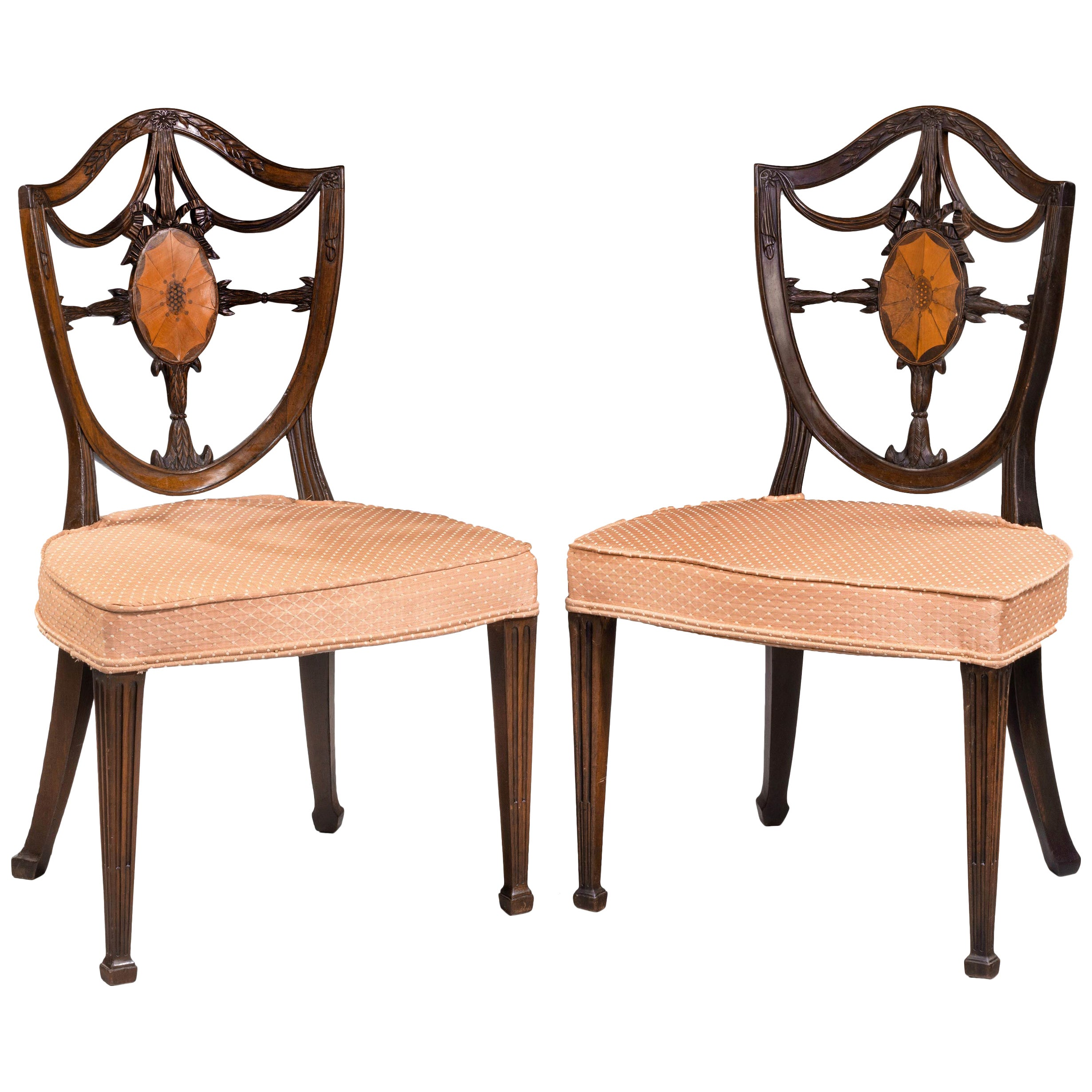 A Finely Carved Pair of Late George III Period Mahogany Hepplewhite Chairs For Sale at 1stdibs  sc 1 st  1stDibs & A Finely Carved Pair of Late George III Period Mahogany Hepplewhite ...
