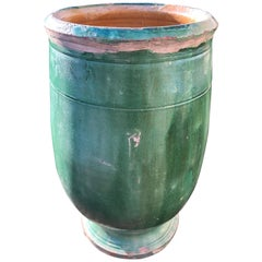 French 19th Century Green-Glazed Terracotta Pot from Apt