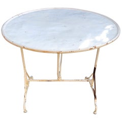 "Rare, Round French Tilt-Top Wine-Tasting ""Vendange"" Table in Wrought Iron"