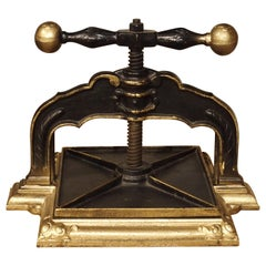 Painted Cast Iron Book Press from Germany, circa 1890