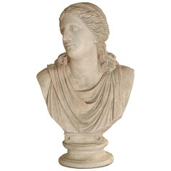 Large and Impressive 19th Century Plaster Bust of Niobe