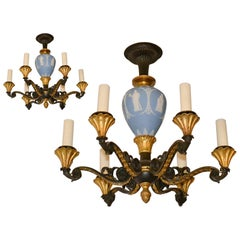 19th Century Pair of French Empire Chandeliers