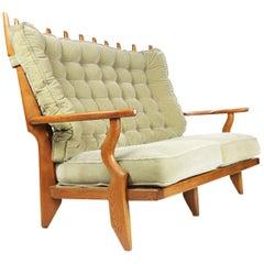 "Guillerme et Chambron ""Grand Repos"" Sofa in Oak, Edition Votre Maison"