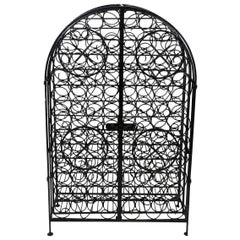 Wrought Iron Wine Safe