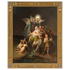 "Large KPM Porcelain Plaque of ""The Flight into Egypt"""