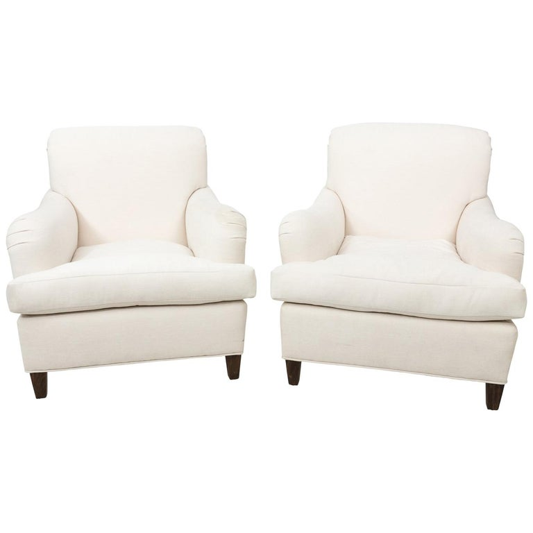 Pair of Vintage Club Chairs, circa 1940s For Sale