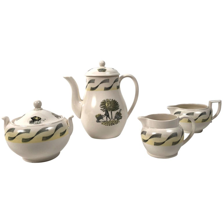 Eric Ravilious Garden Series Coffee Service for Wedgwood 1