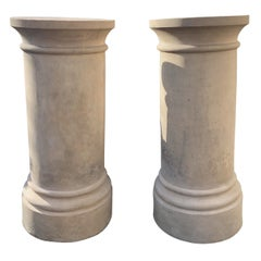 Pair of English 19th Century Terracotta Pedestals by James Stiff and Sons