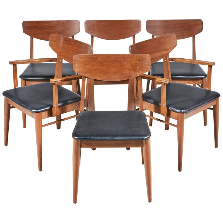 Incredible 1960S Stanley Furniture Dining Chairs By Paul Browning Set Creativecarmelina Interior Chair Design Creativecarmelinacom