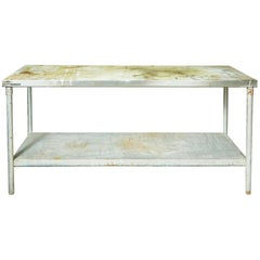 Industrial Metal Rectangular Commercial Table