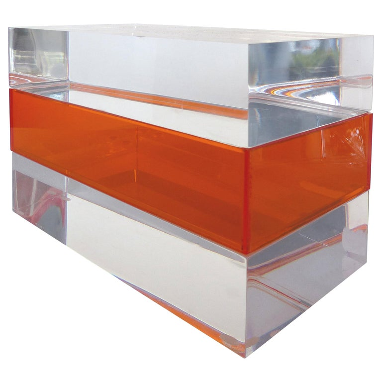 Custom Lucite Trinket or Jewelry Box For Sale