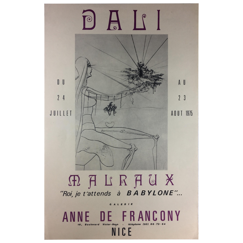 Salvador Dali Midcentury Art Exhibition Poster, 1975