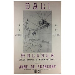 Salvador Dali Midcentury Art Exhibition Poster, 1975