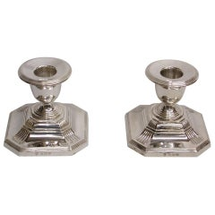 Pair of Silver Candlesticks, 1937
