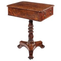 Regency Burr Yew Side or  Work Table