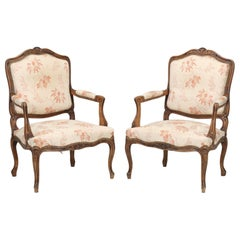 Antique French Louis XV Style Pair of Armchairs