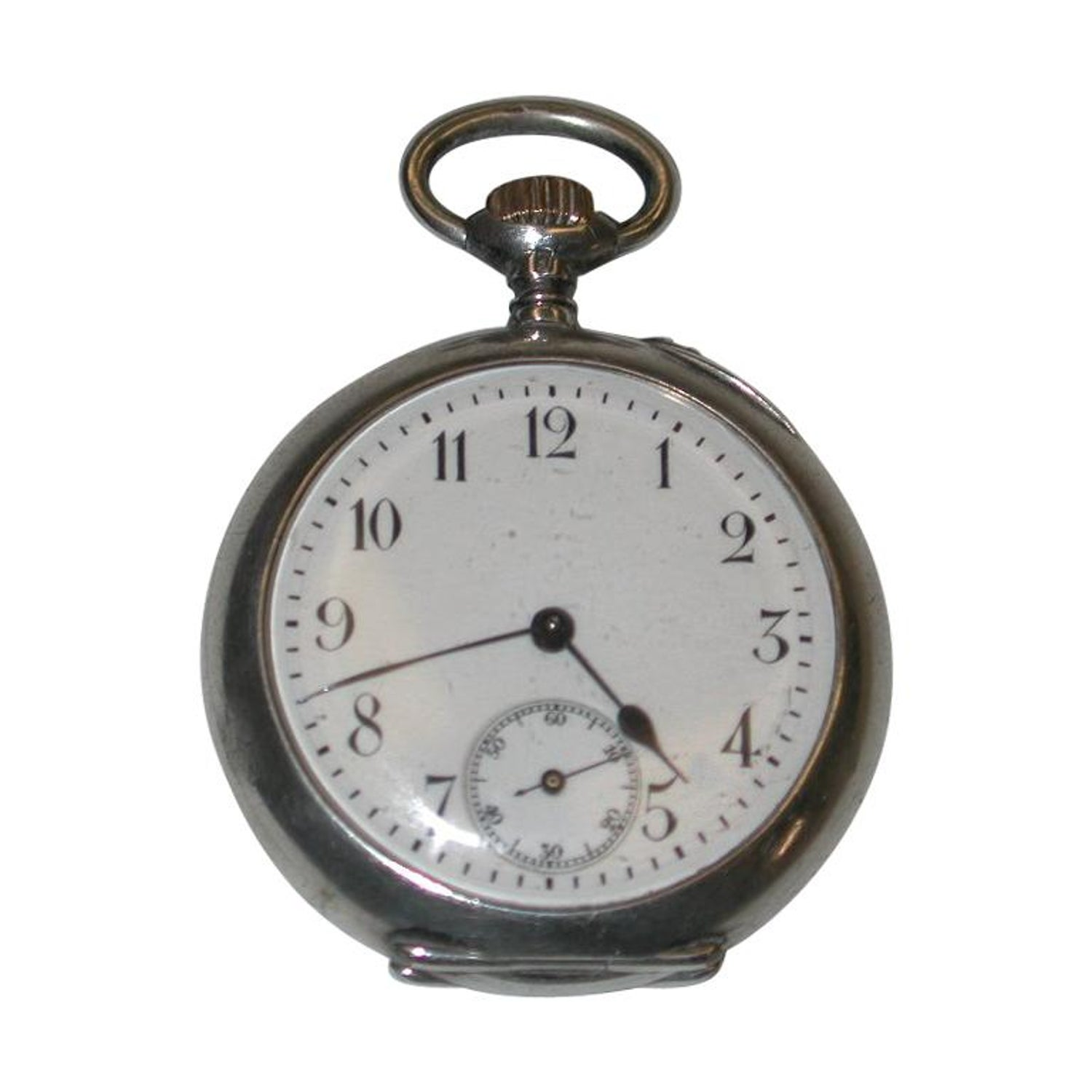 d2c045ded Antique Ladies Swiss Silver Pocket Watch, circa 1900 For Sale at 1stdibs