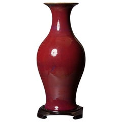 Large Oxblood Vase with Yong Zheng Nin Choi Mark