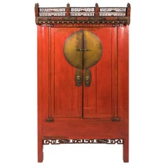 Painted Chinoiserie Armoire, circa 1880