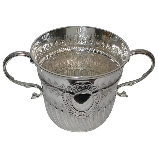 Queen Anne Style Two Handled Silver Porringer, 1911
