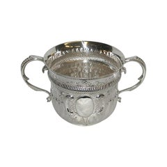 Silver Queen Anne Style Two Handled Porringer, 1908