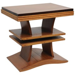 Deco Period Rosewood and Burmese Teak Stand