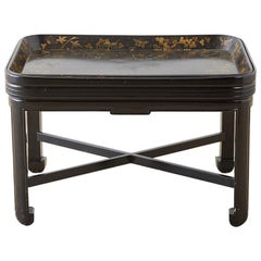 English Chinoiserie Lacquered Tray Table by Henry Clay
