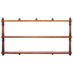 English Regency Mahogany Hanging Shelf