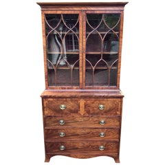Georgian Mahogany Secrétaire Bookcase or Chest