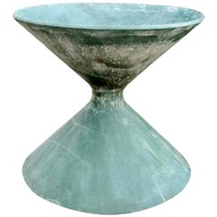 Green Willy Guhl Sculptural Hourglass Planter