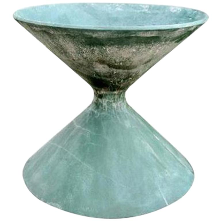 Green Willy Guhl Sculptural Hourglass Planter For Sale