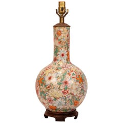"""""""Mille Fleur"""" Vase Later Mounted as a Lamp, China, circa 1870"""