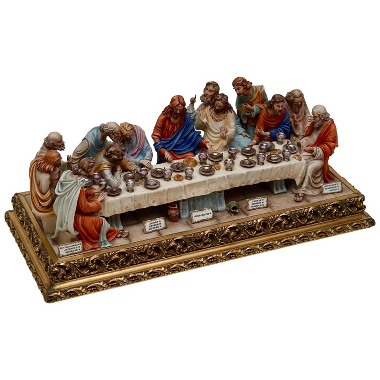 "Fine Italian Capodimonte ""The Last Supper"" Museum Quality Porcelain by Cortese 1"