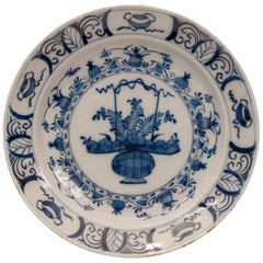 Delft Pottery Charger, Holland, circa 17th-18th Century