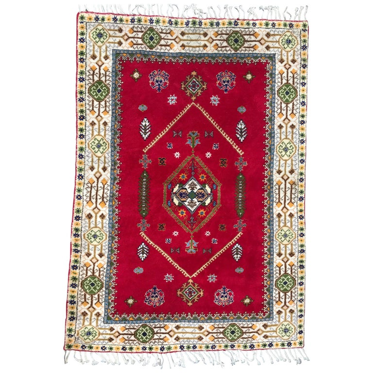 Beautiful 20th Century Moroccan Rabat Rug For Sale At 1stdibs